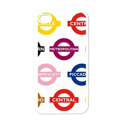 Underground Signs Tube Signs Apple Iphone 4 Case (white)
