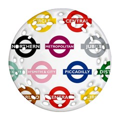 Underground Signs Tube Signs Ornament (round Filigree)