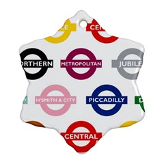 Underground Signs Tube Signs Ornament (snowflake)