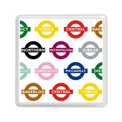 Underground Signs Tube Signs Memory Card Reader (square)