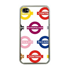 Underground Signs Tube Signs Apple Iphone 4 Case (clear)