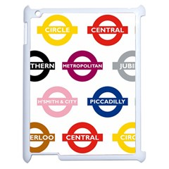 Underground Signs Tube Signs Apple iPad 2 Case (White)