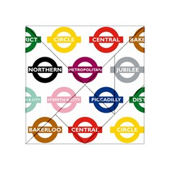 Underground Signs Tube Signs Acrylic Tangram Puzzle (4  X 4 )