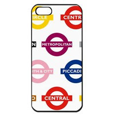 Underground Signs Tube Signs Apple Iphone 5 Seamless Case (black)