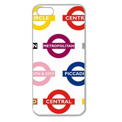 Underground Signs Tube Signs Apple Seamless Iphone 5 Case (clear)