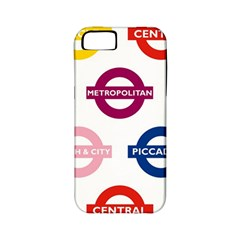Underground Signs Tube Signs Apple Iphone 5 Classic Hardshell Case (pc+silicone)