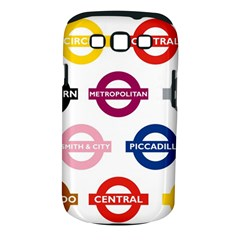 Underground Signs Tube Signs Samsung Galaxy S III Classic Hardshell Case (PC+Silicone)