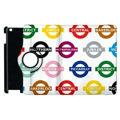 Underground Signs Tube Signs Apple Ipad 2 Flip 360 Case