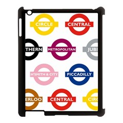 Underground Signs Tube Signs Apple Ipad 3/4 Case (black)