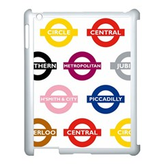 Underground Signs Tube Signs Apple Ipad 3/4 Case (white)