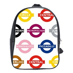 Underground Signs Tube Signs School Bags (xl)