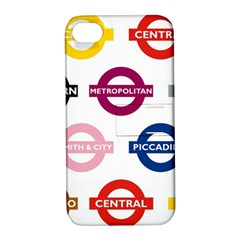 Underground Signs Tube Signs Apple Iphone 4/4s Hardshell Case With Stand