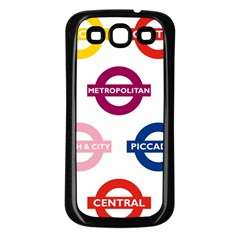 Underground Signs Tube Signs Samsung Galaxy S3 Back Case (black)