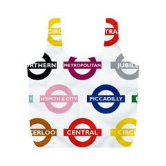 Underground Signs Tube Signs Full Print Recycle Bags (m)