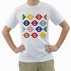 Underground Signs Tube Signs Men s T Shirt (white)