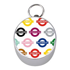 Underground Signs Tube Signs Mini Silver Compasses