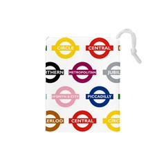 Underground Signs Tube Signs Drawstring Pouches (small)