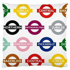 Underground Signs Tube Signs Standard Flano Cushion Case (one Side)