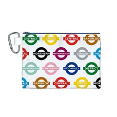 Underground Signs Tube Signs Canvas Cosmetic Bag (m)