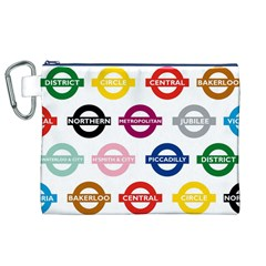 Underground Signs Tube Signs Canvas Cosmetic Bag (xl)