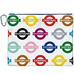 Underground Signs Tube Signs Canvas Cosmetic Bag (xxxl)