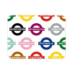 Underground Signs Tube Signs Double Sided Flano Blanket (mini)