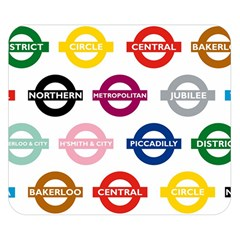 Underground Signs Tube Signs Double Sided Flano Blanket (small)