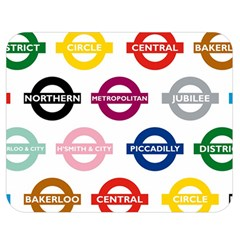 Underground Signs Tube Signs Double Sided Flano Blanket (medium)