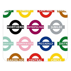 Underground Signs Tube Signs Double Sided Flano Blanket (large)