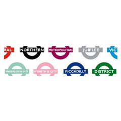 Underground Signs Tube Signs Satin Scarf (oblong)