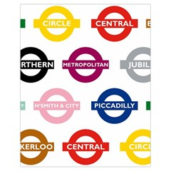 Underground Signs Tube Signs Drawstring Bag (small)