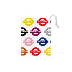 Underground Signs Tube Signs Drawstring Pouches (xs)