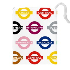 Underground Signs Tube Signs Drawstring Pouches (xxl)