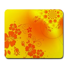 Flowers Floral Design Flora Yellow Large Mousepads