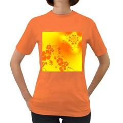 Flowers Floral Design Flora Yellow Women s Dark T Shirt