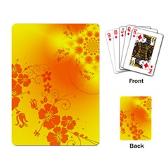 Flowers Floral Design Flora Yellow Playing Card