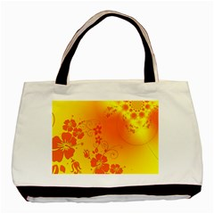 Flowers Floral Design Flora Yellow Basic Tote Bag
