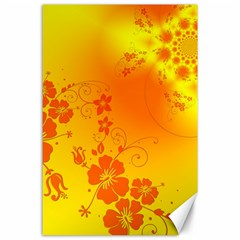 Flowers Floral Design Flora Yellow Canvas 24  X 36