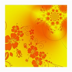 Flowers Floral Design Flora Yellow Medium Glasses Cloth