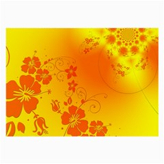 Flowers Floral Design Flora Yellow Large Glasses Cloth (2 Side)