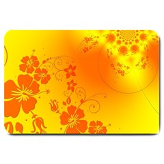 Flowers Floral Design Flora Yellow Large Doormat