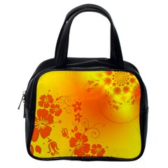 Flowers Floral Design Flora Yellow Classic Handbags (one Side)