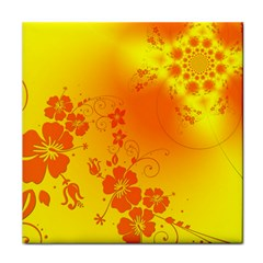 Flowers Floral Design Flora Yellow Face Towel