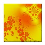 Flowers Floral Design Flora Yellow Face Towel Front