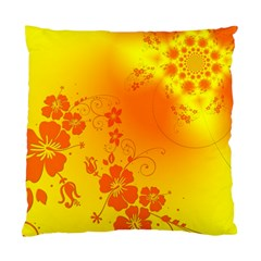 Flowers Floral Design Flora Yellow Standard Cushion Case (Two Sides)
