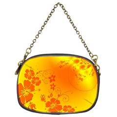 Flowers Floral Design Flora Yellow Chain Purses (Two Sides)