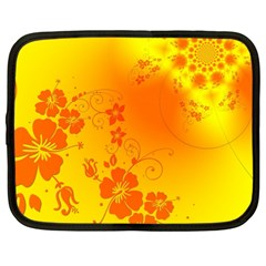 Flowers Floral Design Flora Yellow Netbook Case (xl)