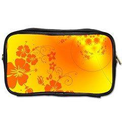 Flowers Floral Design Flora Yellow Toiletries Bags