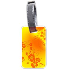 Flowers Floral Design Flora Yellow Luggage Tags (one Side)