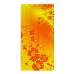 Flowers Floral Design Flora Yellow Shower Curtain 36  X 72  (stall)